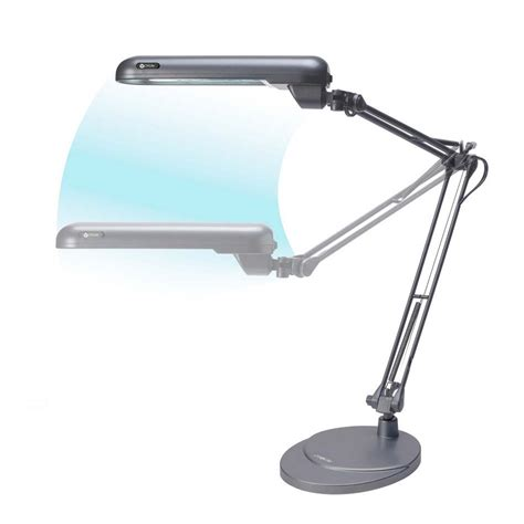 Ottlite Desk L Bulb by Shop Ottlite 38 In Adjustable Gray Desk L With Plastic