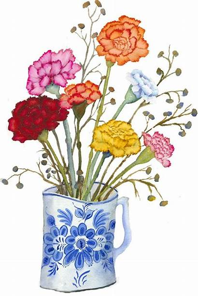Clip Funeral Clipart Bouquet Carnation Cliparts Flowers