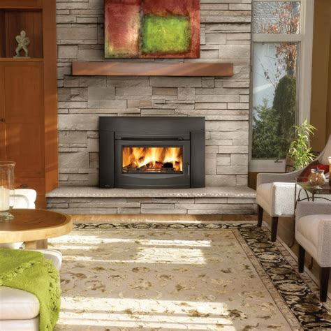 wood burning fireplace inserts napoleon epi3 wood burning fireplace insert w cast iron