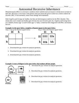 genetics autosomal recessive inheritance punnett squares