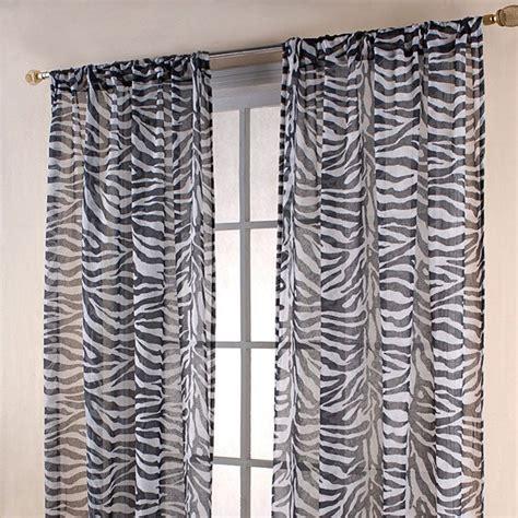 zebra print drapes zebra print black white sheer 84 inch curtain panels