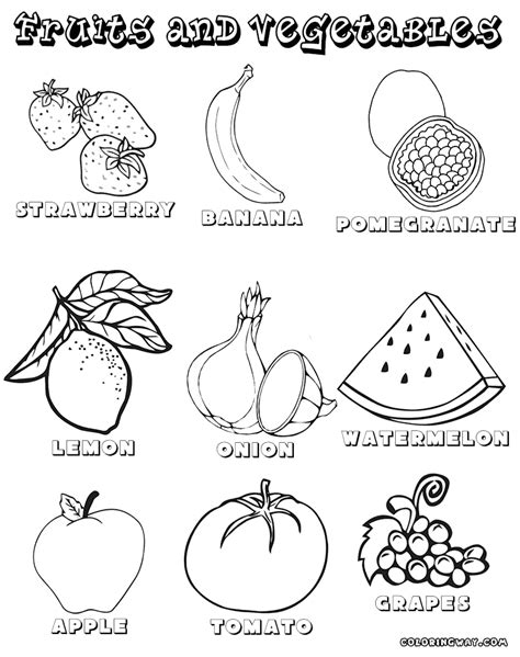 vegetables  fruits coloring pages coloring pages