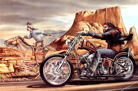 David Mann Motorcycle Art Wallpaper