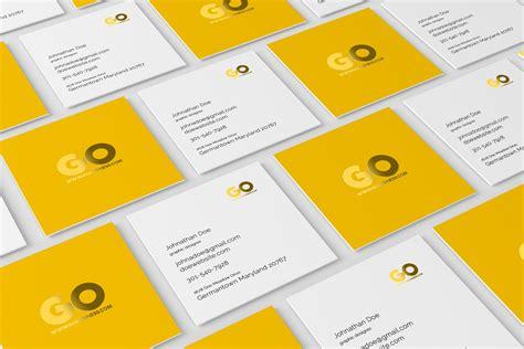 square business card mockup product mockups creative