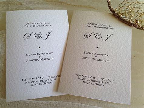 order  service wedding template daisy chain invites