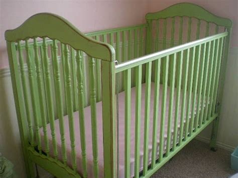 antique spindle crib painted green crib baby room