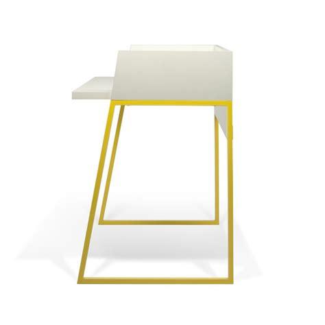 le bureau jaune temahome bureau quot volga quot blanc mat jaune