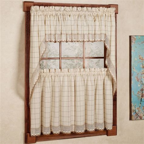 Window Tier Curtains And Valances by Adirondack Cotton Kitchen Window Curtains Toast Tiers