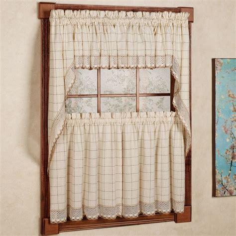 adirondack cotton kitchen window curtains toast tiers
