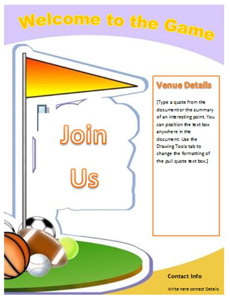 free flyer templates for microsoft word sports flyer template microsoft word templates