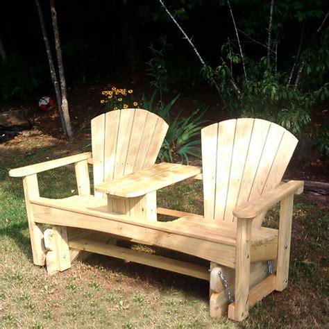 share double adirondack chair plan  yellawood zine