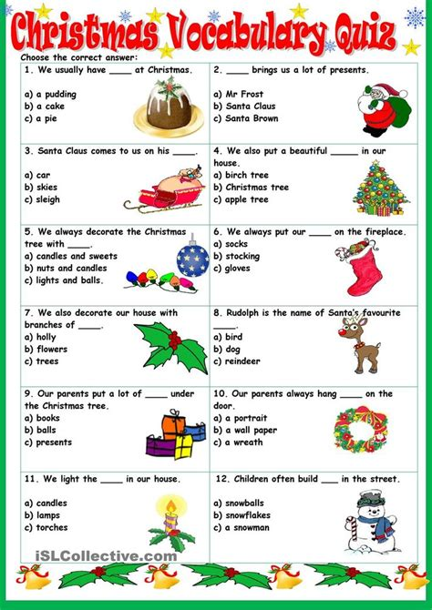 Christmas Vocabulary Quiz  Christmas Lessons  Pinterest  French, The O'jays And Quizes