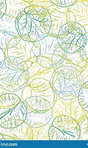 Abstract Colorful Waterlily Or Lotus Flower Leaves Vector ...