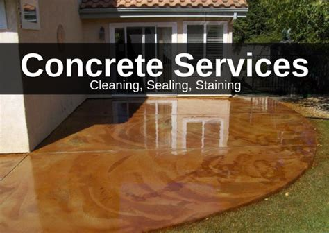 Concrete Cleaning, Sealing & Staining Services