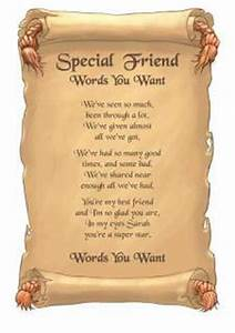 Special Friendship Poems And Quotes. QuotesGram