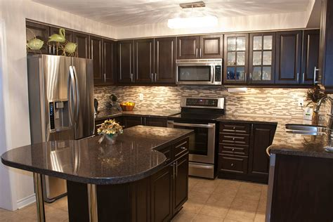 dark kitchen cabinets    option classic home