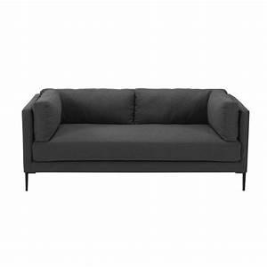 Sofa 4 Sitzer Stoff : 3 sitzer sofa aus anthrazitfarbenem stoff josh maisons du monde ~ Bigdaddyawards.com Haus und Dekorationen