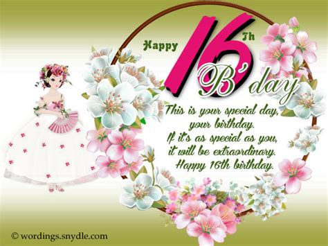 birthday wishes  sixteen year  page