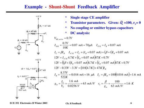 Ppt Shunt Feedback Amplifier Ideal Case