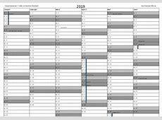 Kalender 2019 mit Feiertagen Download Freewarede