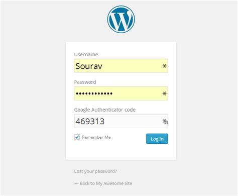 factor wordpress authentication  google