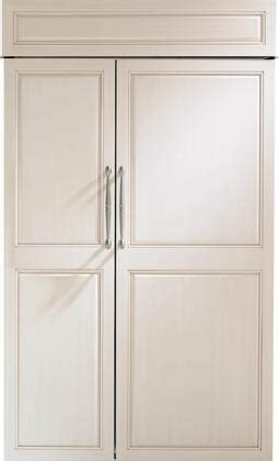 monogram zisnh   built  counter depth side  side refrigerator  panel ready
