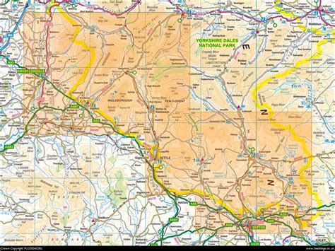 map  yorkshire dales southern western areas
