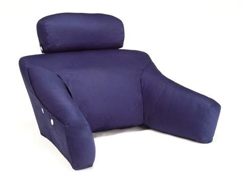 Bedlounge Reading Pillow In Navy Cotton Cover.
