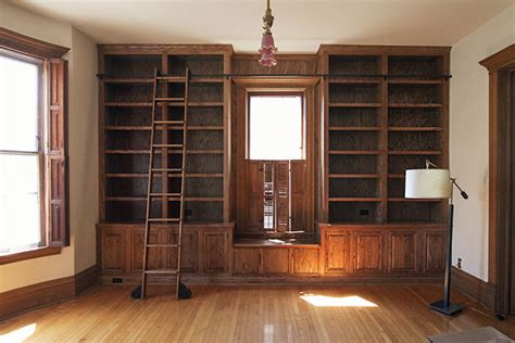 built in bookcases starting on the library s built in bookshelves it