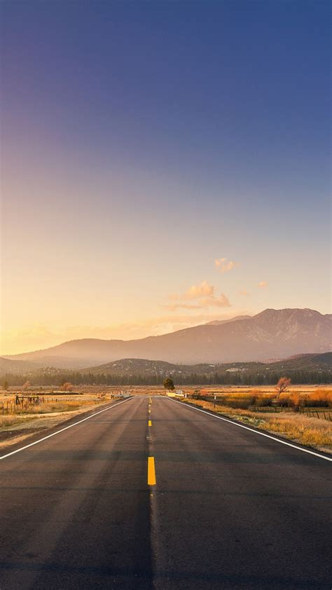 wallpaper road mountains sunset  world  wallpaper  iphone android mobile  desktop