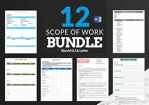 project scope document template scope of work template 36 free word pdf documents
