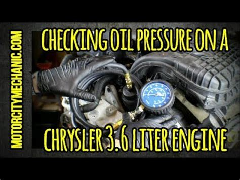checking oil pressure   chrysler    liter