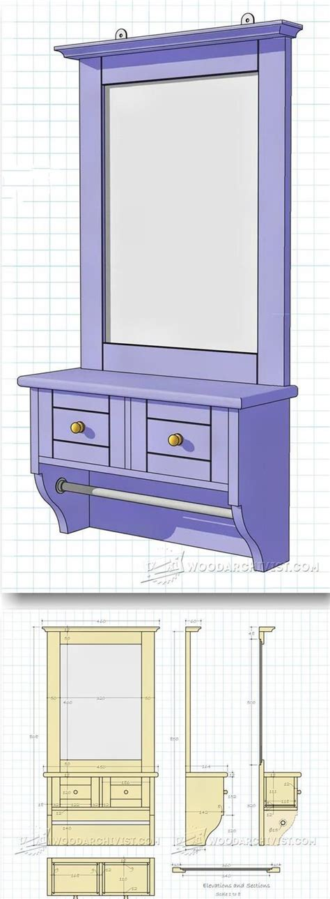 woodworking plans projects  wall mirrors  pinterest