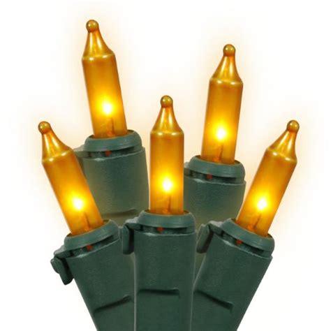 christmas outdoor decor set of 100 opaque gold mini