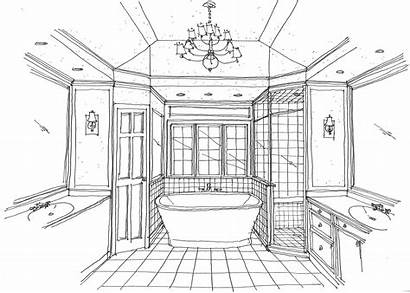 Bathroom Sketch Bath Master Layout Renovation Sketches