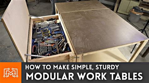 simple modular work tables  magnets woodworking