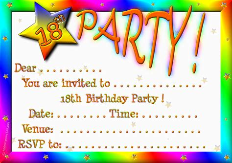 invitation party templates 18th birthday party invitations theruntime com