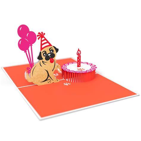 Pug Cake Smash Pop Up Card Lovepop