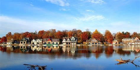 Boathouse Row by Schuylkill Navy Boathouse Row