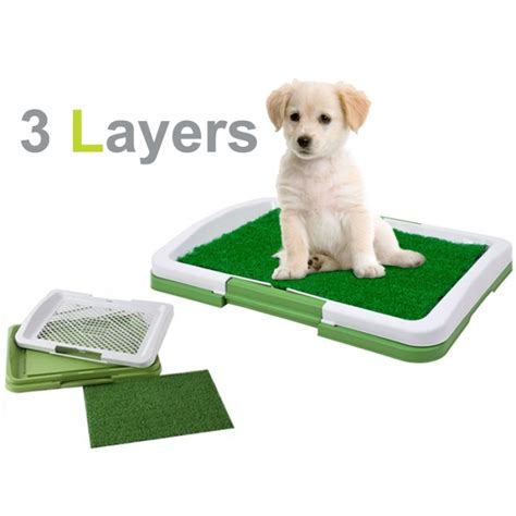 puppy potty tray for puppies trainer indoor pad toilet mat ebay