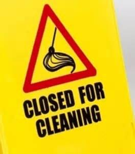 a frame style homes 39 closed for cleaning 39 a frame floor warning sign