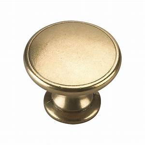 richelieu hardware 1 3 4 in brass cabinet knob bp881130 With home depot furniture knobs
