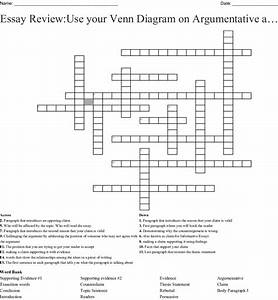 Argumentative Writing Crossword