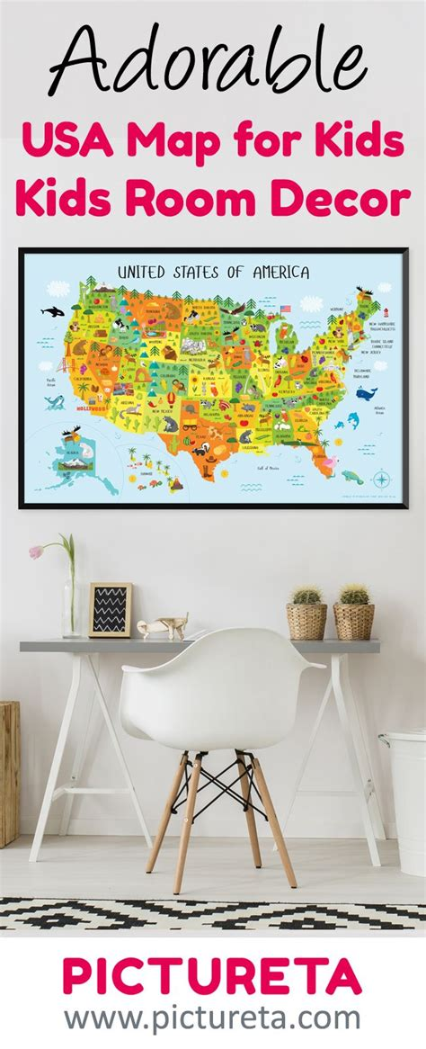 Room Decor Usa by United States Map For Printable Instant