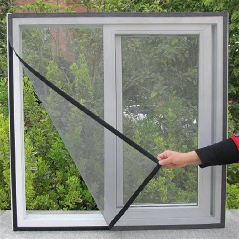 diy flyscreen curtain insect fly mosquito bug window screen mesh  adhesive anti mosquito net