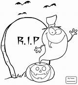 Coloring Ghost Printable Pages Halloween sketch template