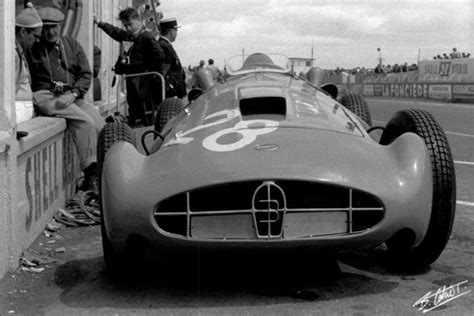 Maurice Trintignant With His Bugatti Type 251, Reims 1956
