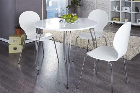 table de cuisine ronde blanche table ronde blanc laque
