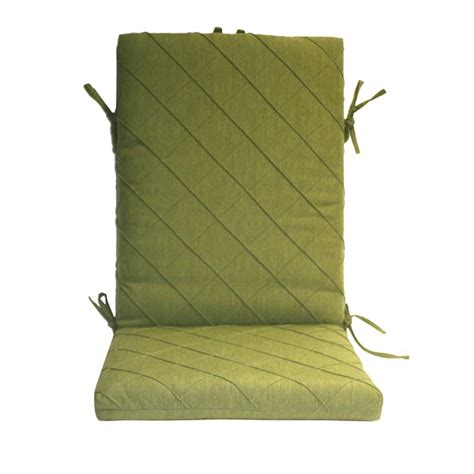 high back patio chair cushions home depot peak season green quilted high back outdoor chair cushion