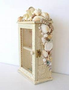 Beach shadow box great for my seashell collection home for Kitchen cabinets lowes with seashell wall art craft